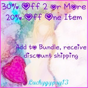 30% Off 2 or More-20% Off One Item. Add to Bundle